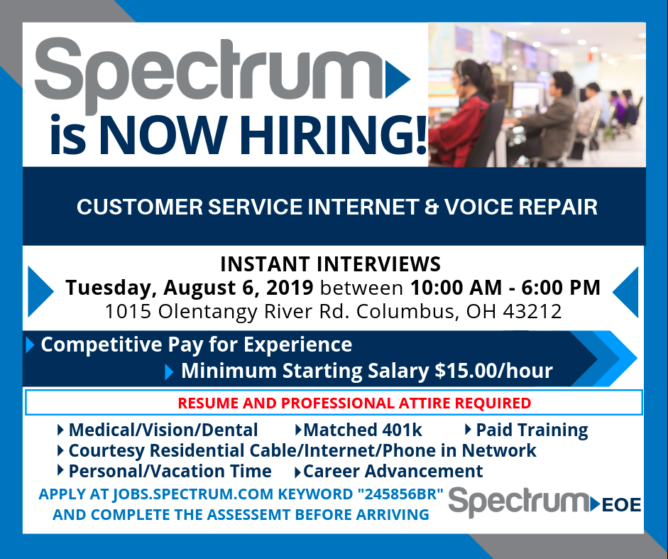 Spectrum Customer Service Internet Voice Repair Instant Interviews Columbus Chamber Of Commerce